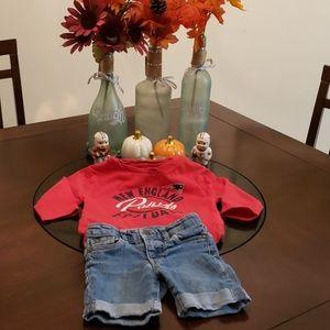 NFL New England Patriots 3T tshirt w/Jean shorts